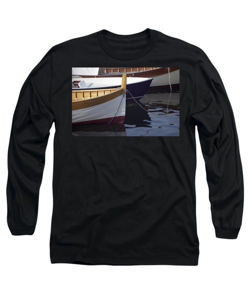 Burgundy Boat Long Sleeve T-Shirt