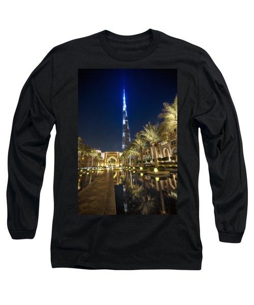 Long Sleeve T-Shirt featuring the photograph Burj Khalifa Swoard by John Swartz