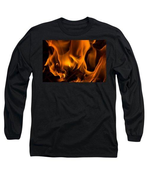 Burning Holly Long Sleeve T-Shirt