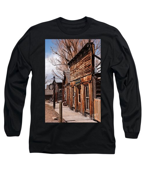 Long Sleeve T-Shirt featuring the photograph Business Block by Sue Smith