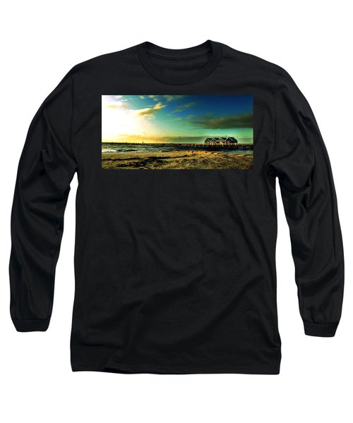 Long Sleeve T-Shirt featuring the photograph Busselton Jetty by Yew Kwang