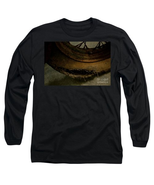 Busted Motorcycle Tire Long Sleeve T-Shirt