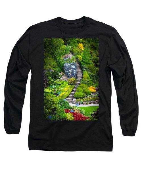 Butchart Gardens Stairs Long Sleeve T-Shirt