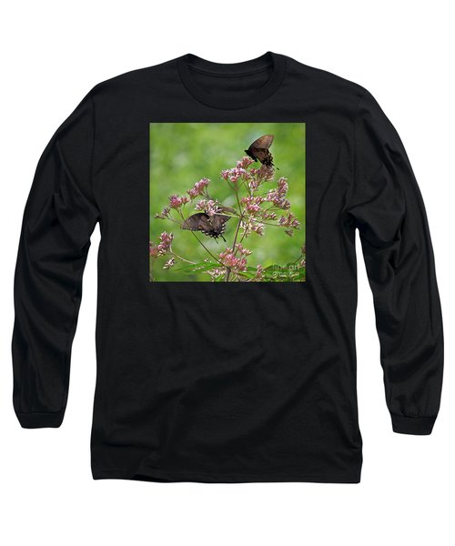 Butterfly Duet  Long Sleeve T-Shirt by Kerri Farley