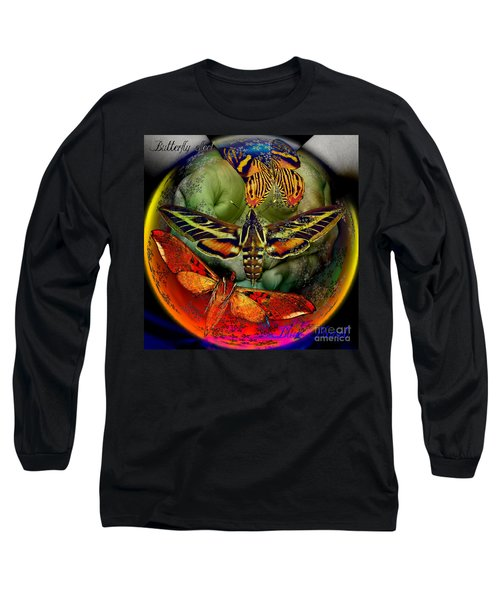 Butterfly Effect Blue Planet Long Sleeve T-Shirt by Joseph Mosley