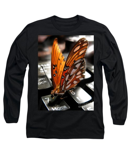 Long Sleeve T-Shirt featuring the photograph Butterfly Home At 7 by Jennie Breeze