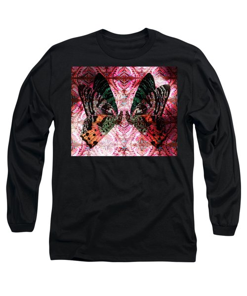 Long Sleeve T-Shirt featuring the digital art Butterfly Kaleidoscope by Kyle Hanson