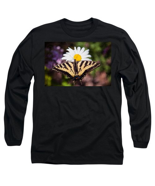 Long Sleeve T-Shirt featuring the painting Butterfly Kisses by Omaste Witkowski