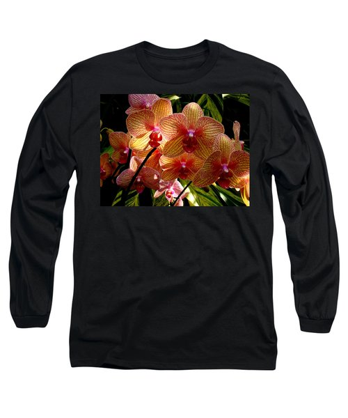 Long Sleeve T-Shirt featuring the photograph Butterfly Orchids by Rodney Lee Williams