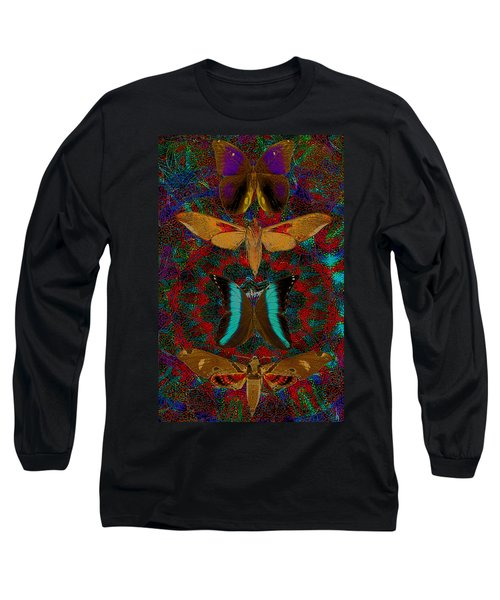 Solar Butterfly Long Sleeve T-Shirt by Joseph Mosley