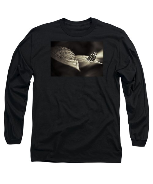 Butterfly Warm Tone Long Sleeve T-Shirt by Bradley R Youngberg