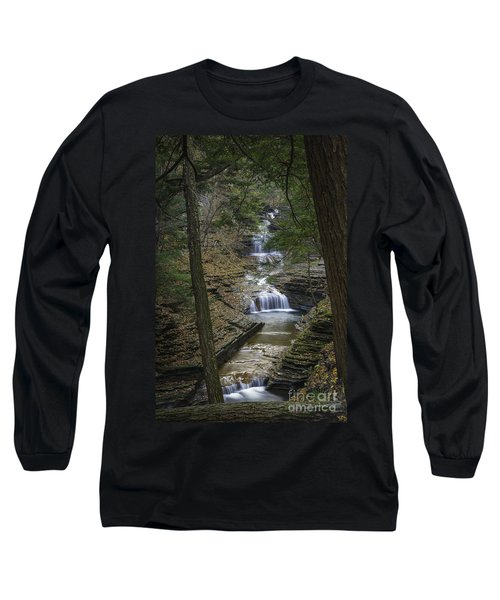 Buttermilk Falls In Autumn IIi Long Sleeve T-Shirt