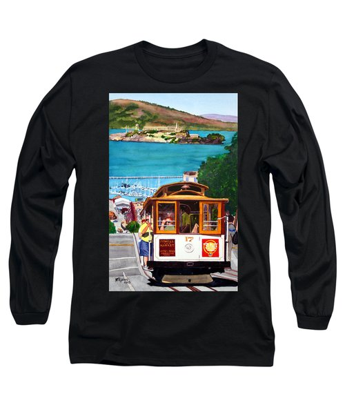 Cable Car No. 17 Long Sleeve T-Shirt by Mike Robles
