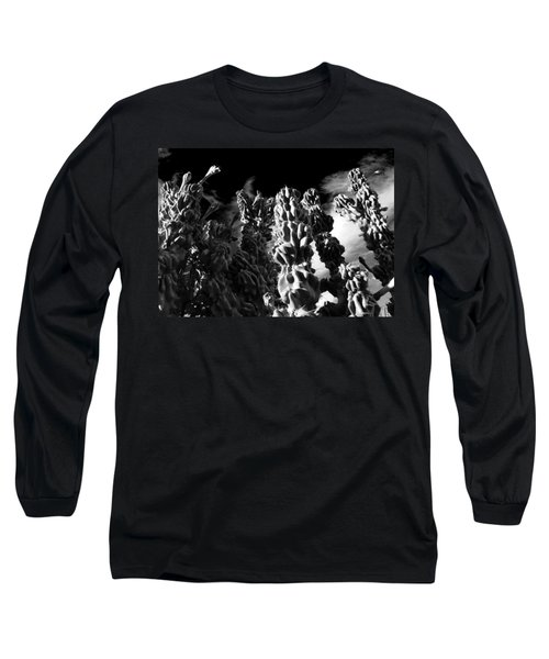 Long Sleeve T-Shirt featuring the photograph Cactus 1 Bw by Mariusz Kula