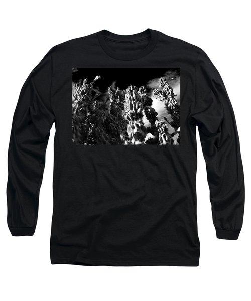 Cactus 1 Bw Long Sleeve T-Shirt