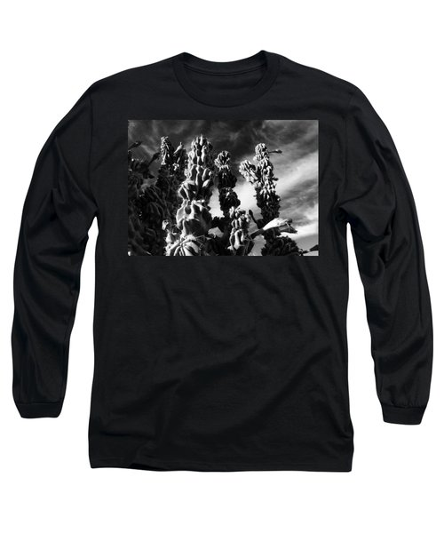 Cactus 2 Bw Long Sleeve T-Shirt