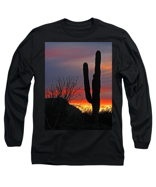 Cactus At Sunset Long Sleeve T-Shirt
