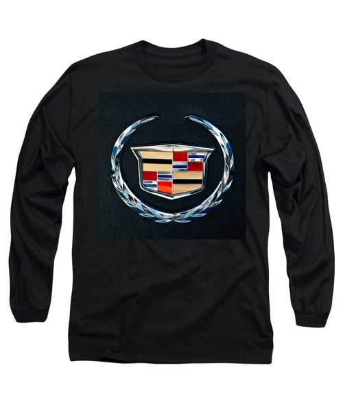 Cadillac Emblem Long Sleeve T-Shirt by Jill Reger