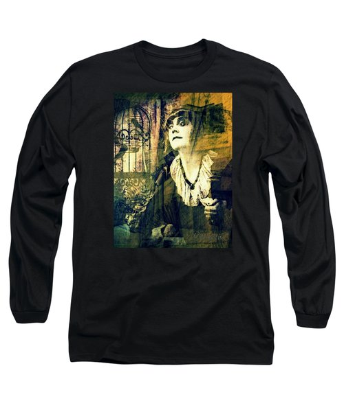 Long Sleeve T-Shirt featuring the digital art Blueprint For The Frightened by Delight Worthyn
