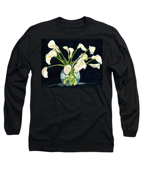 Calla Lilies In Vase Long Sleeve T-Shirt