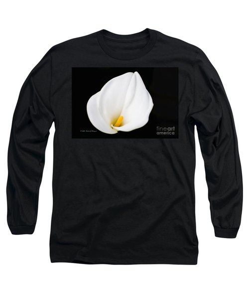 Calla Lily Flower Face Long Sleeve T-Shirt