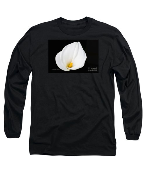 Calla Lily Flower Face Long Sleeve T-Shirt