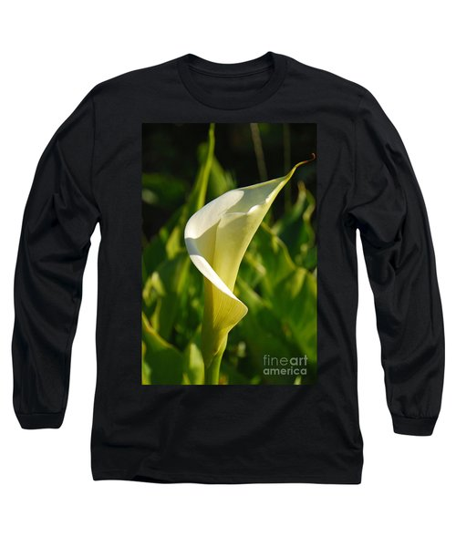 Calla Lily Long Sleeve T-Shirt by Mary Carol Story