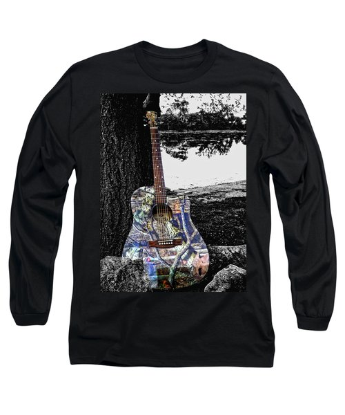 Camo Guitar Long Sleeve T-Shirt