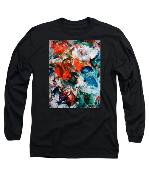Long Sleeve T-Shirt featuring the painting Can I Have This Dance by Lori  Lovetere