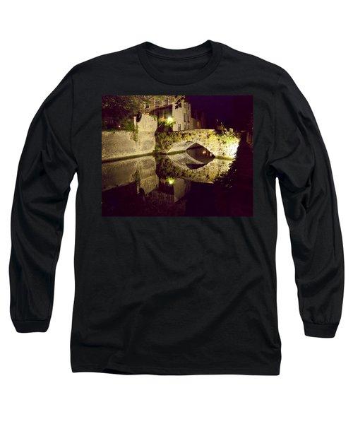 Canal Bridge Reflection Long Sleeve T-Shirt