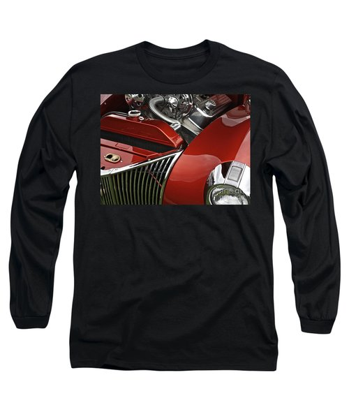 Candy Apple Red And Chrome Long Sleeve T-Shirt
