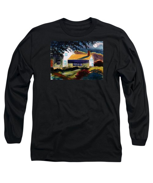 Long Sleeve T-Shirt featuring the painting Cape Cod Moon by John Williams