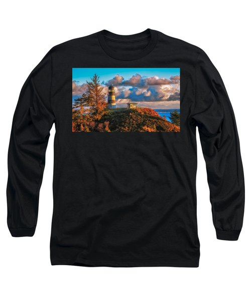 Cape Disappointment Light House Long Sleeve T-Shirt by James Heckt