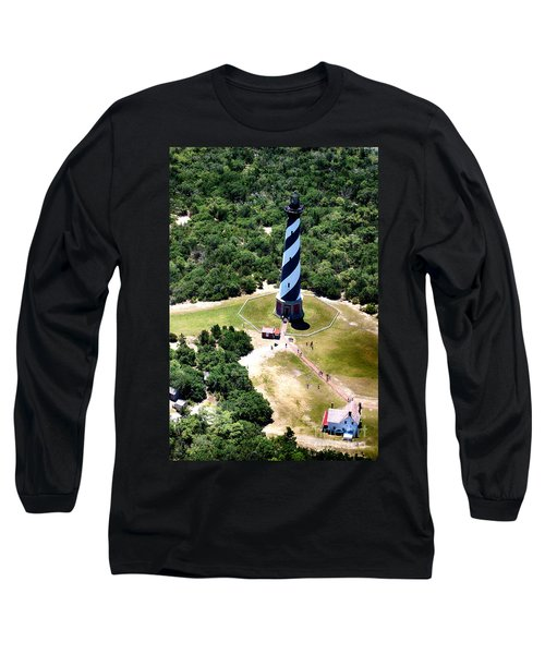 Cape Hatteras Lighthouse From Above Long Sleeve T-Shirt