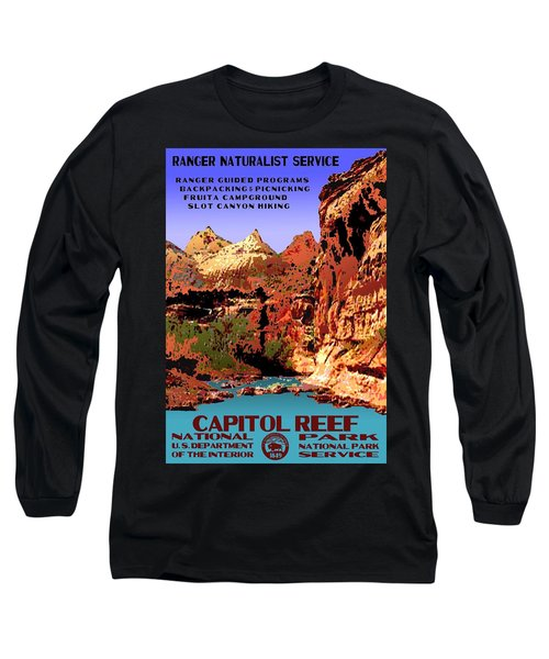 Capitol Reef National Park Vintage Poster Long Sleeve T-Shirt