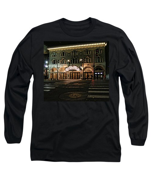 Long Sleeve T-Shirt featuring the photograph Capitol Theatre by Ely Arsha