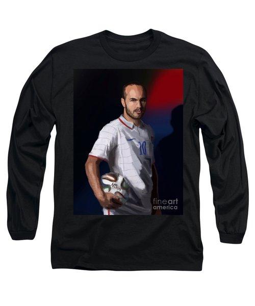 Captain America Long Sleeve T-Shirt by Jeremy Nash