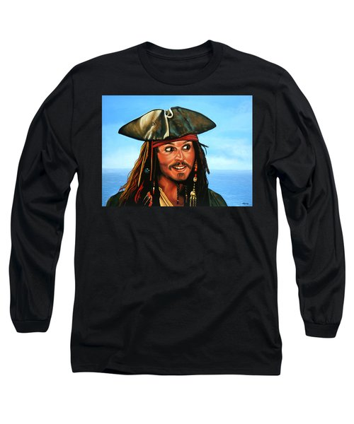Captain Jack Sparrow Painting Long Sleeve T-Shirt
