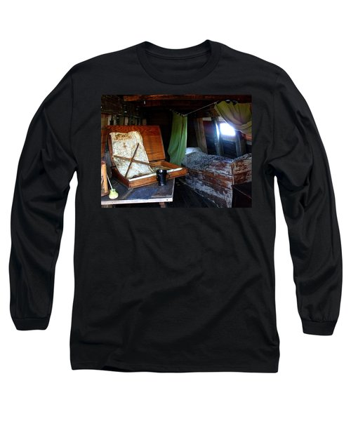 Captain's Quarters Aboard The Mayflower Long Sleeve T-Shirt