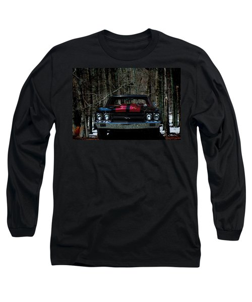 Car Art Chevy Chevelle Ss Hdr Long Sleeve T-Shirt by Lesa Fine