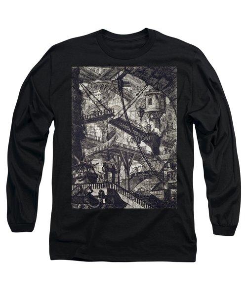 Carceri Vii Long Sleeve T-Shirt by Giovanni Battista Piranesi