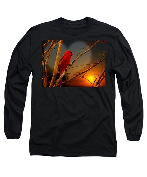 Cardinal At Sunset Valentine Long Sleeve T-Shirt