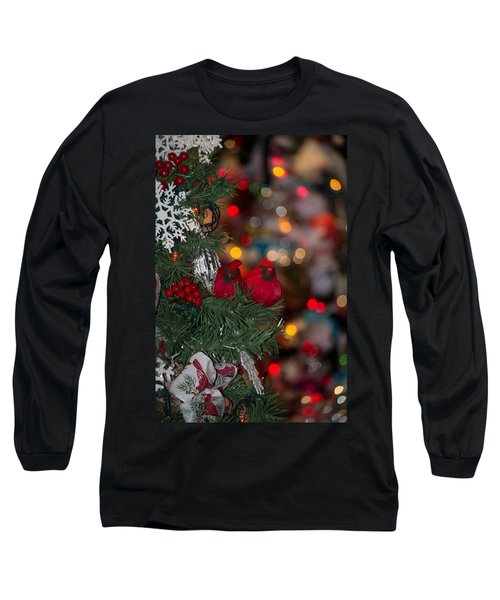 Long Sleeve T-Shirt featuring the photograph Cardinals by Patricia Babbitt