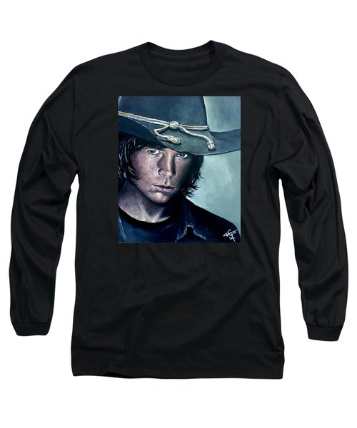 Carl Grimes Long Sleeve T-Shirt by Tom Carlton