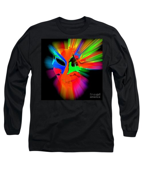 Carnival Mask In Abstract Long Sleeve T-Shirt