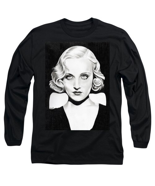 Carole Lombard Long Sleeve T-Shirt by Fred Larucci