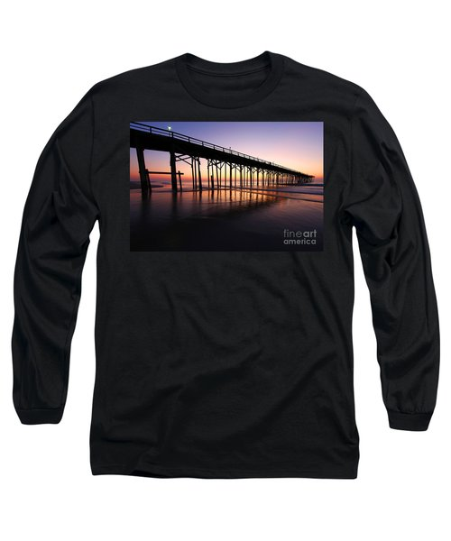North Carolina Beach Pier - Sunrise Long Sleeve T-Shirt