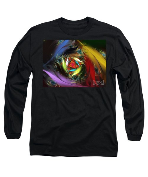 Carribean Nights-abstract Fractal Art Long Sleeve T-Shirt