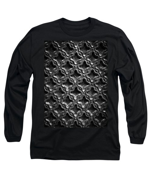 Carved Wood Texture Long Sleeve T-Shirt