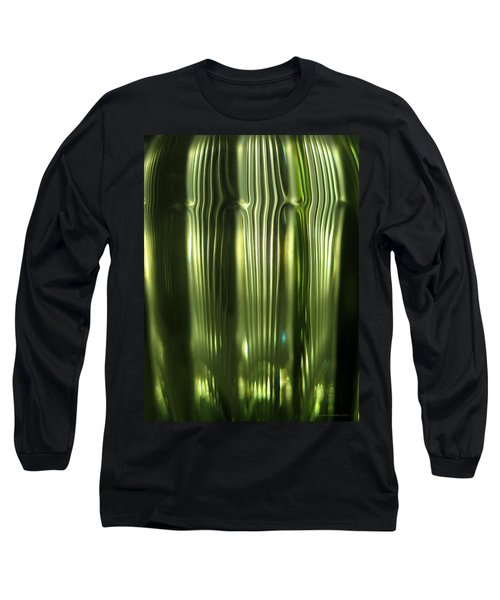 Cascading Green Long Sleeve T-Shirt by Leena Pekkalainen